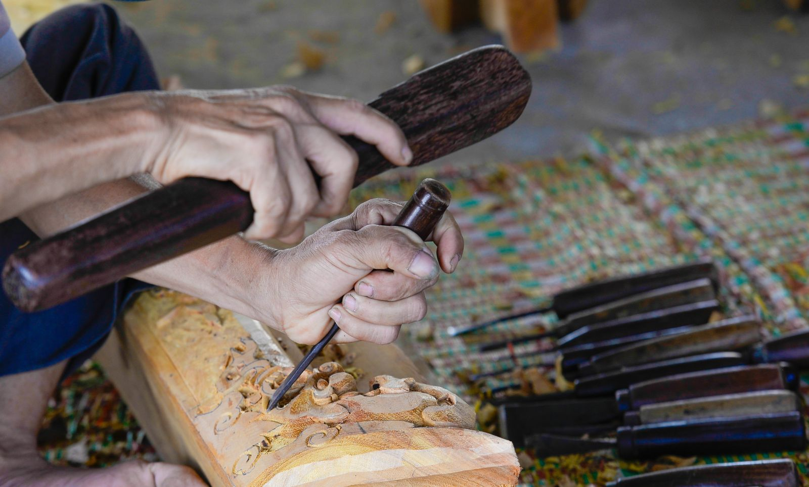 Carefully carving