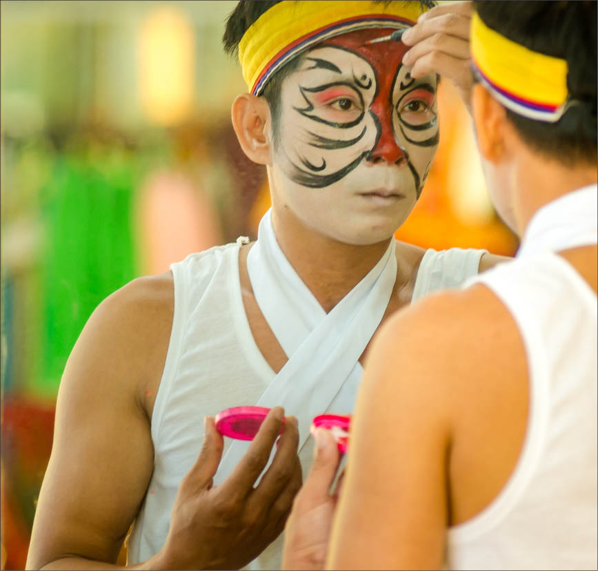 In addition to acting, young artists must learn how to makeup for themselves