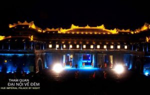 Hue Imperial palace by night