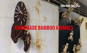 Handmade bamboo animals