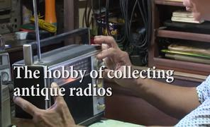 The hobby collecting antique radios