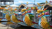 Dragon boat renting service on Huong River