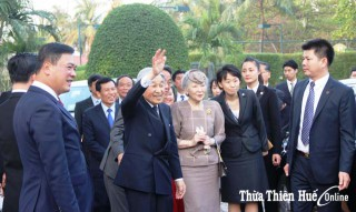 Japanese Emperor and Empress visit Hue Citadel