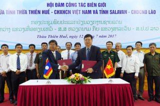 Thua Thien Hue and Salavan (Laos) sign a memorandum on border