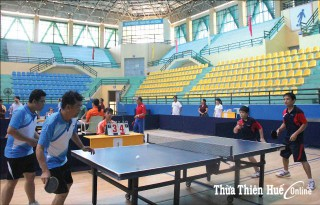 The first sports family contest in Hue