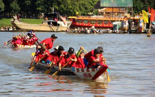 Vibrant traditional boat race on the Perfume River
