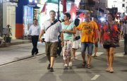 One more pedestrian quarter at night in Hue