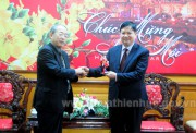 Deputy Chairman of provincial People's Committee Nguyen Dung meets with Japan-Vietnam Friendship Association of Nara province