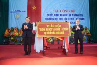 Branch of University of Finance – Accounting established in Thua Thien Hue