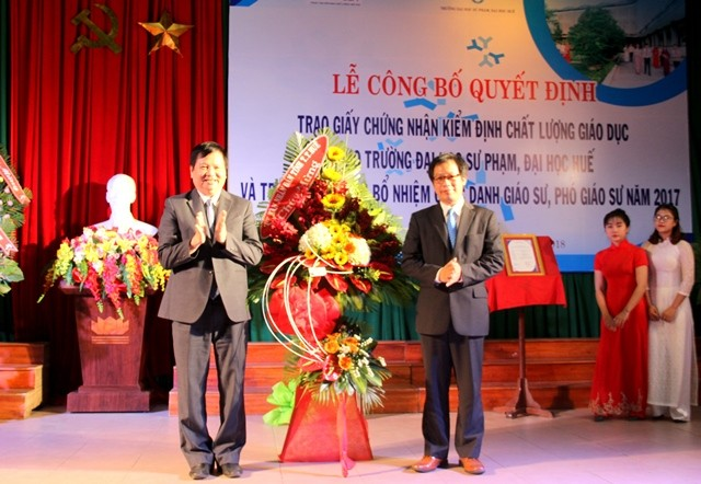 Hue University of Education meets education quality standards