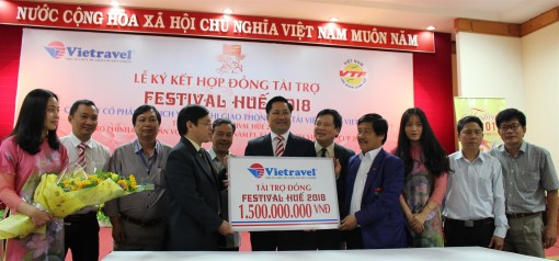 VNPT and Vietravel sponsor Hue Festival 2018