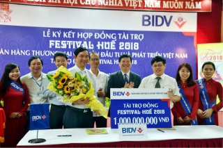 BIDV is the Bronze sponsor for Hue Festival 2018