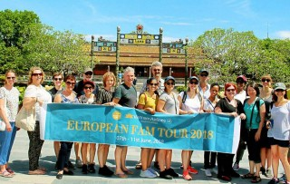 European tour operators felt impressed with tourist spots in Hue