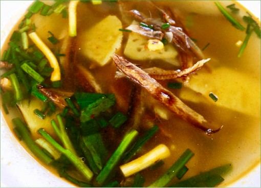 Dried herring soup