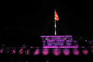 Hue Flagpole art lighting system handed over