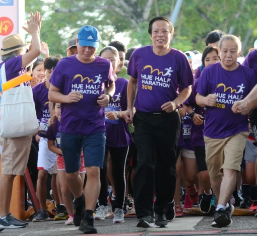 More than 1,500 athletes participate in the first half marathon in Hue