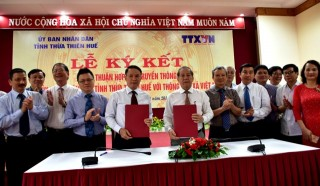 Vietnam News Agency and the provincial People's Committee sign a cooperation agreement on communication