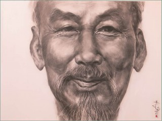 Uncle Ho's portrait painting: lively and realistic