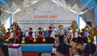 The first premium silica plant in Vietnam commenced