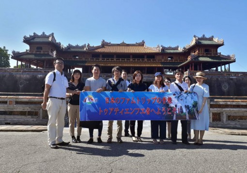 Japanese travel agencies survey tourist spots in Hue