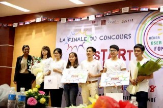 The Tournesol Group (Hue University) wins the Third prize in Start-up Ideas Contest of AUF