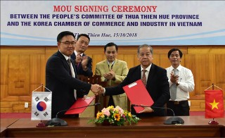 Thua Thien Hue signs a cooperation agreement on investment promotion with South Korea