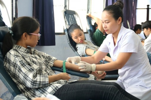 Over 700 students of Hue University of Medicine and Pharmacy take part in blood donation festival