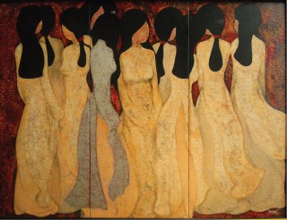 Tuong Van and the shyness in the paintings of young ladies