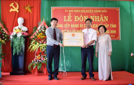 Hoang Anh memorial house receives the certificate ranking as provincial-level historical relic