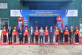 Inaugurating Glass Vico glass production plant