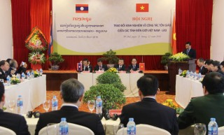 Vietnam and Laos exchange experiences on religious affairs among their border provinces