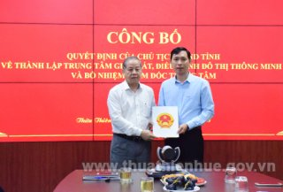 Thua Thien Hue Smart City Monitoring and Control Center officially put into operation