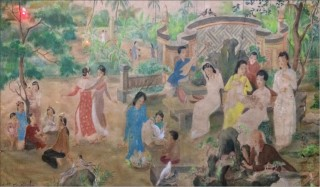 Women's beauty in the paintings of artist Ton That Dao