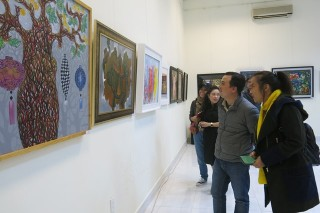 Exhibition of paintings celebrating spring and the zodiac animals