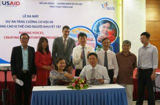 The U.S. Agency for International Development (USAID) sponsors a project to support people with disabilities in Hue