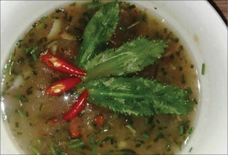 Cassava soup with smoked meat and fish - highland delicacies