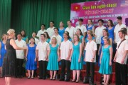 American students perform in Hue city