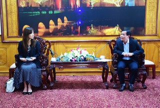 Vice Chairman of the Provincial People's Committee Nguyen Van Phuong meets with JICA Senior Advisor