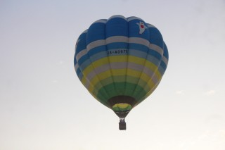 International hot air balloon flying in Hue's sky