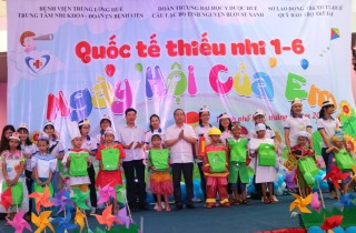 Thua Thien Hue province brings joys to child patients