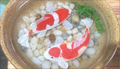 3D fish painting