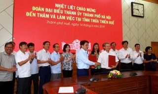 Thua Thien Hue - Hanoi cooperating for development