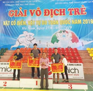 Hue team wins many high prizes at the National Junior Freestyle and Classical Wrestling Championship 2019