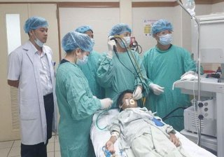 Saving Laos pediatric patient with lung injured by fishbone