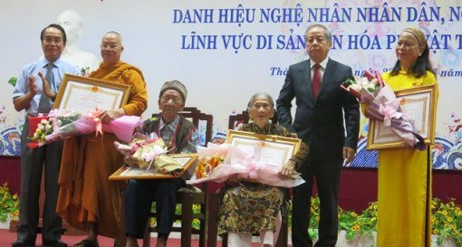 Hue City: 17 artisans received the title of People's Artisan and Excellent Artisan