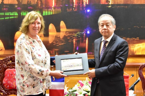 Continuing to encourage French businesses to invest in Hue