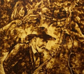 Pyrography - a Hue's mark in the misty land