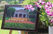 """Hue Imperial Palace, ao dai and flowers"""