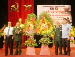 Celebrating the 70th Traditional Day anniversary of Former Vietnamese volunteer soldiers and experts in Laos