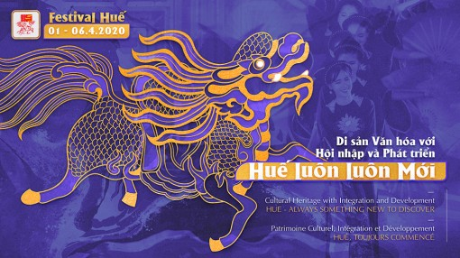 Selecting set of identity images and posters of Hue Festival 2020